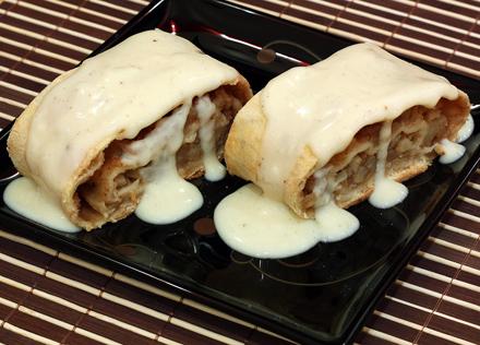 prajitura cu mere si vanilie
