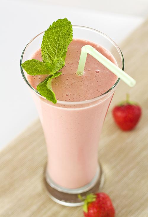 Milkshake de capsuni
