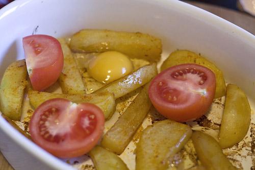 cartofi rapizi cu oua