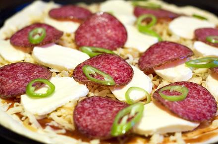 ingrediente pizza salami