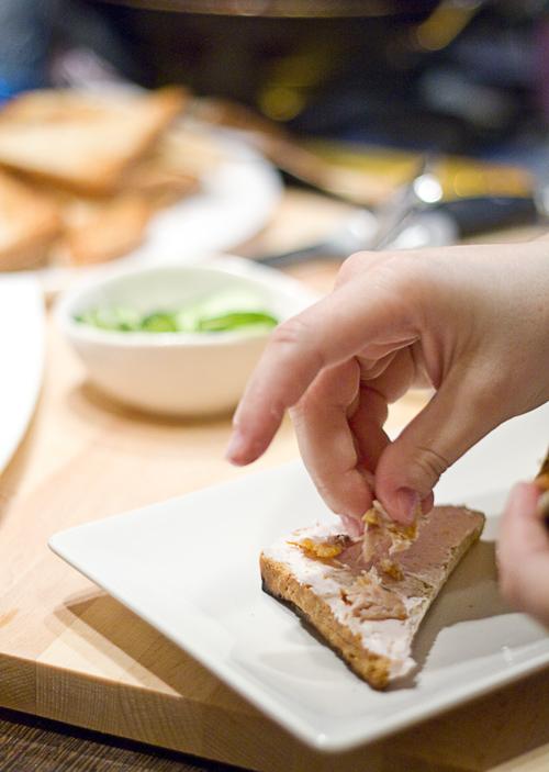 mini sandwichuri triunghi