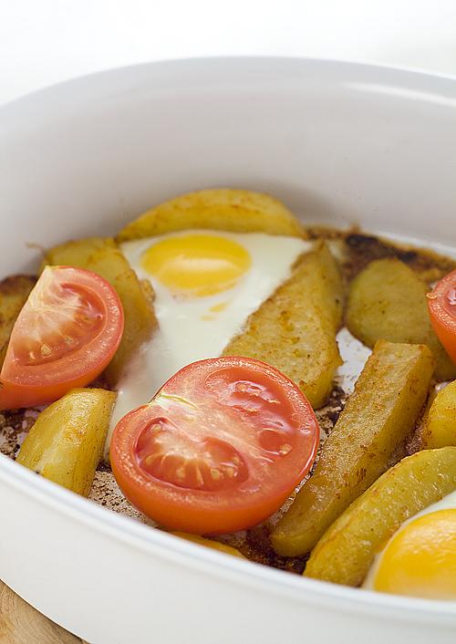 reteta de oua cu cartofi