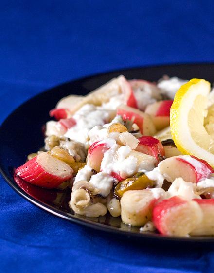 salata de caracatita, surimi, carne de scoica